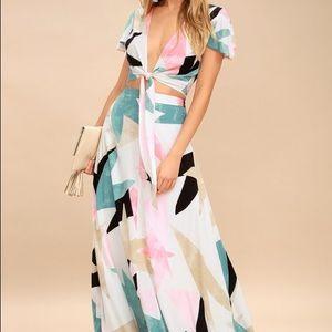 COPY - Iconic geometric patterned two piece dress